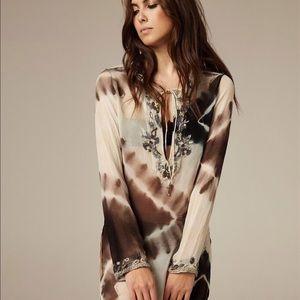 FLAWED AllSaints Silk Zami Maxi Kaftan Coverup
